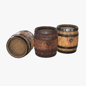 Wooden Barrel model