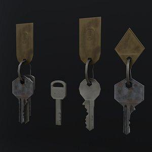 3D model house keys