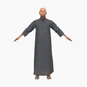 3D chinese man
