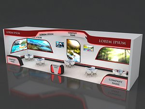 3D 10  Exhibition Stand Stall Fair 3D Model Collection model