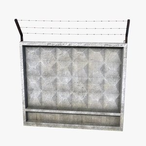 Concrete Fence 3D