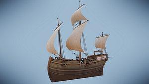 3D Herring Buss Ship model