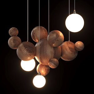 lamp balls wooden model