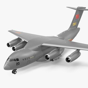 Xian Y20 Large Military Transport Aircraft 3D