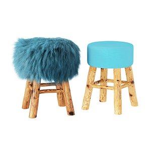 3D stool wool solid model