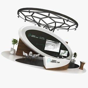 futuristic exhibition 3D model