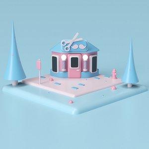3D model Barber Shop 03