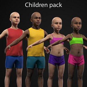 3D model Children pack