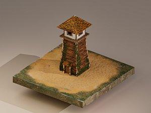 3D Watchtower Level 1 model