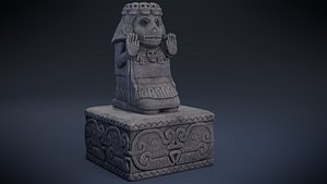 Cihuateteo - Aztec Deity 3D model