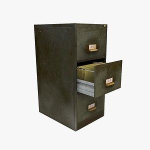 3D metal filing cabinet