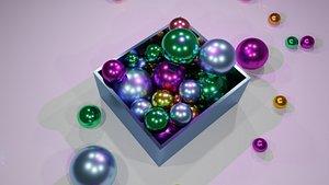 ball colorful box 3D