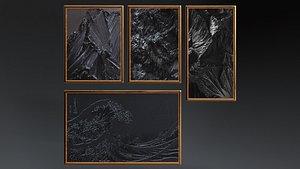 black paintings model