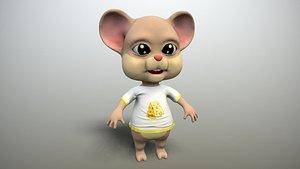 mouse cartoon toon 3D model
