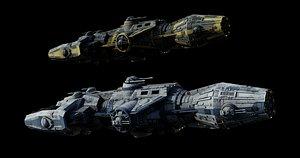 star wars corellian gunship 3D