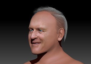 3D Anthony Hopkins 3d zbrush sculpting Render in pictures only. The video is for sculpture model before model
