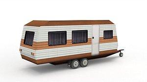 3D House On Wheels model