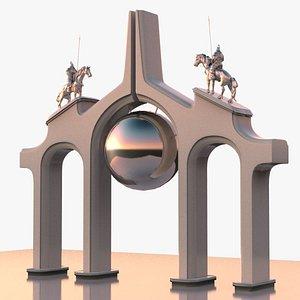 Arch modern memorial design 3D model