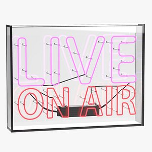 3D model Live On Air Neon