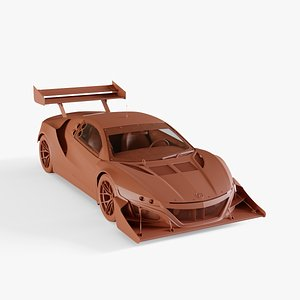 3D acura nsx 2016 model