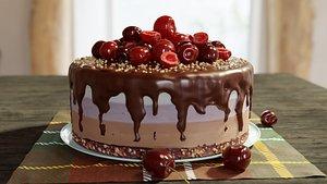 3D Cherry Cake model