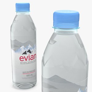 evian natural mineral water 3D model