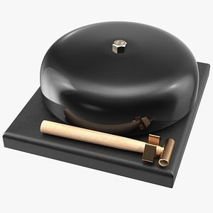 gong ringing 3D model