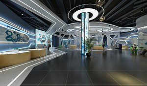 Exhibition Hall Exhibition Hall Science and Technology sense office rest area reception culture wall 3D