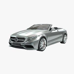 3D Mercedes-Benz S63 AMG Cabriolet 2017