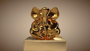 ganesh gold 3D model