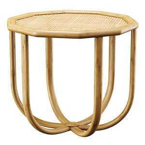 Spider rattan coffee table 3D model