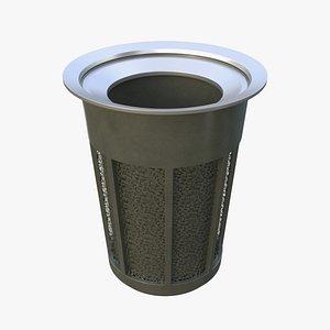 NYC Trash Bin V03 3D