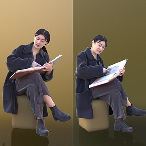 woman young photo 3D
