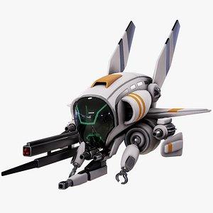 drone sci-fi support 3D model
