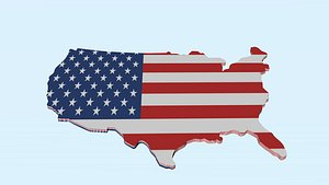 United States Of America map 3D