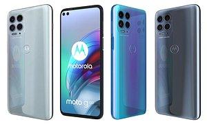 3D Motorola Moto G100 All Colors model