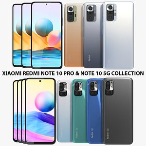 3D Xiaomi Redmi Note 10 Pro and Note 10 5G Collection model