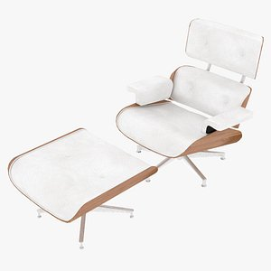 3D eames ottoman wooden leather
