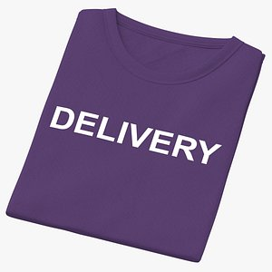 Female Crew Neck Folded Purple Delivery 02(1) 3D
