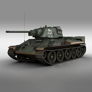 T-34-76 UZTM Model 1942 Soviet tank 22 3D model