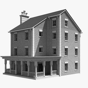 3D model house building mansion