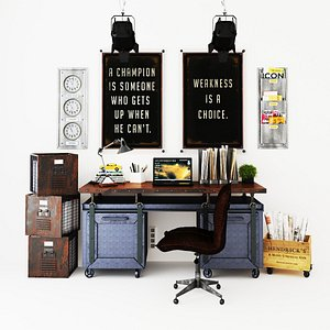 3D model Workplace WP9