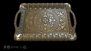 3D model oriental tray arabic