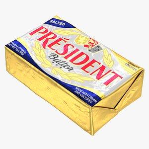 President Salted Butter 3D model