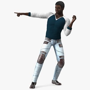 3D model Afro American Man in Urban Style
