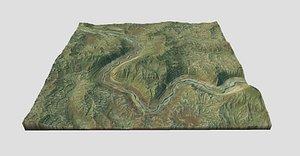 terrain landscape canyon 3D model