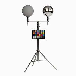 Color Checker with Chrome and Grey Ball 3D model