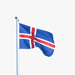3D model Animated Flag of Iceland
