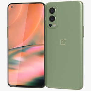 3D model OnePlus Nord 2 5G Green Wood