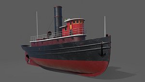 tugboat boat tug 3D